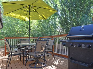 Outside Deck (Trex) with gas BBQ