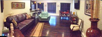 New Orleans condo rental - Living Room and Dining Area