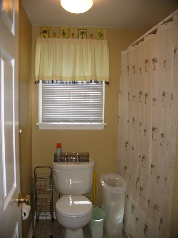 Bathroom with tub in downstairs rental