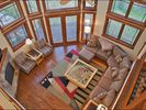 "Living Room - 44"" HDTV, Fireplace, 25 Foot Vaulted Ceilings, & Deck. - Steamboat Springs house vacation rental photo"