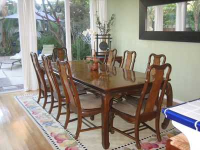 An exquisite Cherry Wood Dining Table for 8