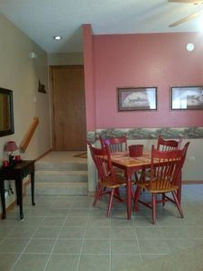 Dining area and entryway