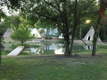 Pictured Geronimo Creek Tipi Property, River Road will be coming Spring of 2013.