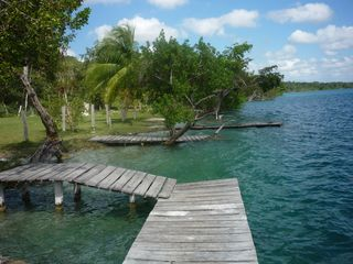 Bacalar house photo - Swimming area very close with 3 minute walk through Casa Muul Ha Restaurant.