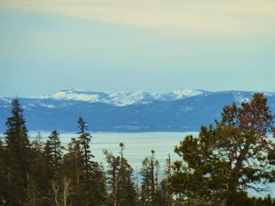 Lake Tahoe with Desolation Wilderness in background