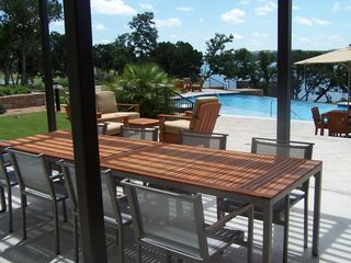 Lago Vista condo photo - Outdoor Kitchen Dining Table