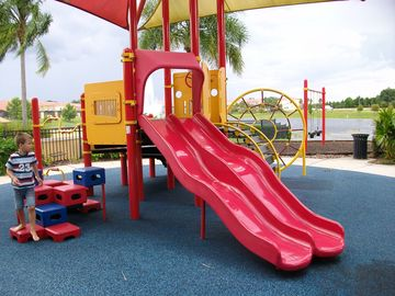 The playground is only a few short steps away