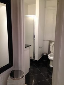 first bathroom with shower