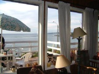 Biobío house photo - The deck and beautiful view of the bay taken from the dining area.