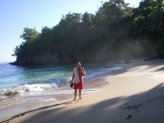 Samana villa photo - An early morning bath at playa Colorado