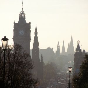 Edinburgh apartment rental - View of Princes Street from Calton Hill