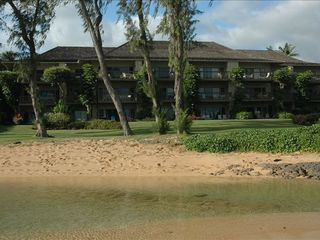 Kapaa condo photo - View from beach to your room