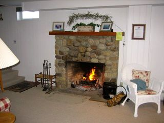 Indoor Fireplace - Ludlow house vacation rental photo