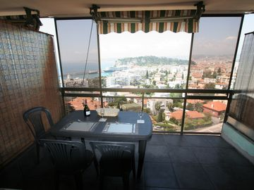 The spacious balcony, and a view to take your breath away!