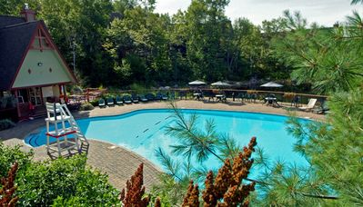 Heated pool and pavillion exclusive to Le Plateau