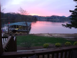 Hiawassee condo photo - Sunset on the Lake - From back porch