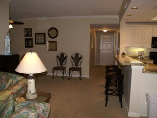 Kingston Plantation condo photo - Hallway leading to Middle Bedroom, bathroom and Lockout Master Bedroom Area