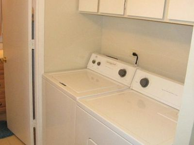 Full size new Laundry units inside