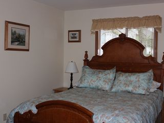 Kent house photo - Queen room, oak bed frame, memory foam mattress topper, dresser,mirror & clo
