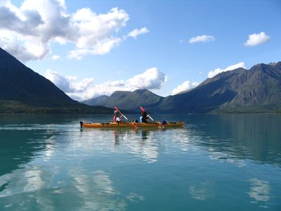 Kayaking on Kenai Lake