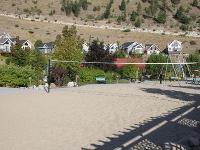 Beach volleyball & kid playground