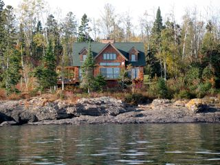 Lutsen house photo - straight on from Lake Superior