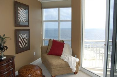 Enjoy the view from this luxurious Chaise in the Master Suite!