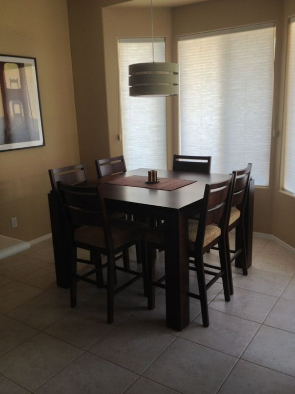 Dining Nook off Kitchen. Great views of golf course and backyard.