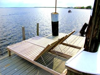 Pine Island cottage photo - seating on dock