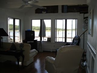 Bourne house photo - Living room, overlooking the water