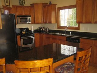 Elkhorn house photo - Kitchen with granite countertops