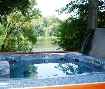 Professionally serviced Hot Tub. Pristine. Filled only with mineral water.