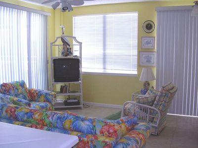 Orange Beach condo rental - Living Room with Gulf-Front view from balcony on 2 sides