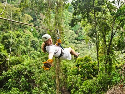 Or try the Zipline and soar through the tree tops.