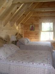 Jamestown cabin photo - Two full size beds in loft bedroom