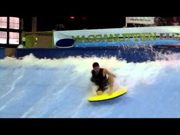 The Flowrider in the Massanutten Waterpark