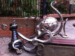 Octopus Sculpture in the Old Town
