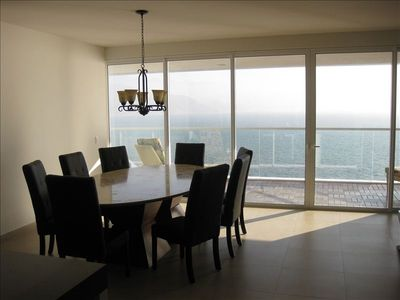 Dining Area adjacent to Living Area - full open living space to enjoy the view