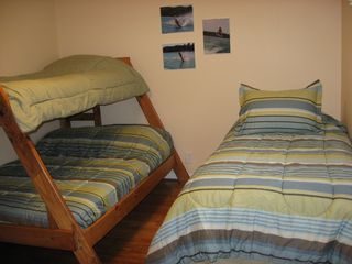 Hillman cottage photo - Bedroom with twin bed and twin over full bunk.