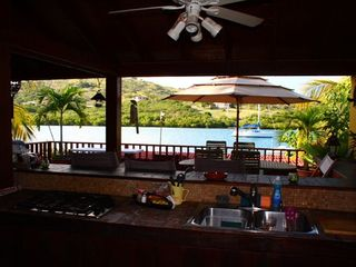 Culebra villa photo - Oceanfront Outdoor Terrace Kitchen/Bar & BBQ area..