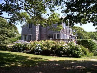 Chilmark house photo - a side view taken from the parking area