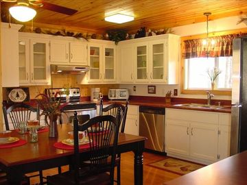 Upscale Kitchen furnished with all your needs