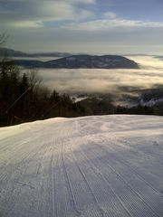 Newry condo photo - First tracks in Jan during temp inversion