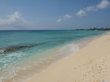 Sandy beach and snorkeling reef