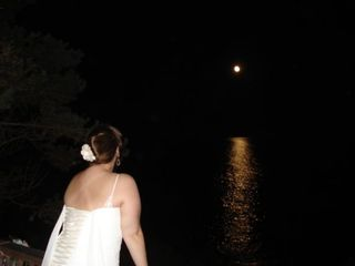 Bailey Island cottage photo - A Bride's Moon over the ocean from deck.