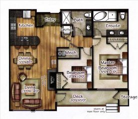 Canmore condo photo - Floor plan of the condo