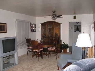 Comfortable living-room & dining room.