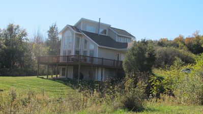 50+ wineries within 30 minutes-Private Waterfront-Magnifico Seneca Lake Views.