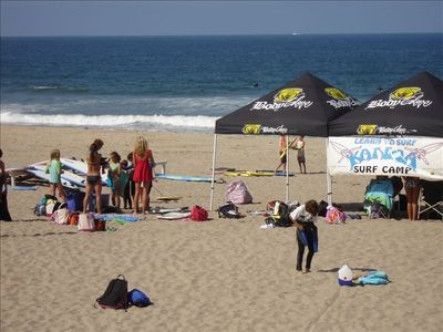 Surf camp for the kids is just steps away!