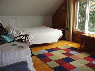 Jamestown (Conanicut Island) house photo - #2. Large TV/ bedroom with queen bed, 3rd floor